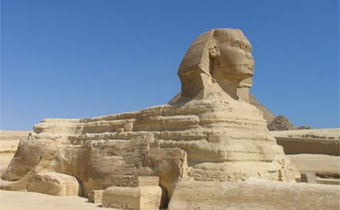 Imagem ilustrativa - A esfinge representava o poder real no Egito Antigo, com a força física do leão e a sabedoria dos reis. Crédito: Reprodução