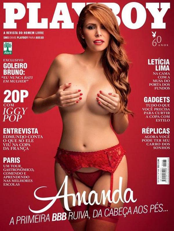 Veja A Capa Da Playboy De Maio E Bbb Amanda Gontijo
