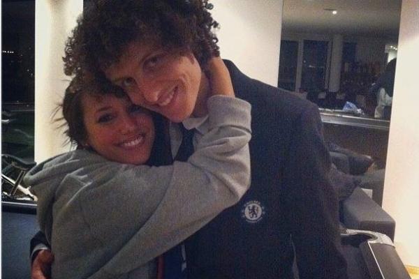David Luiz com a namorada portuguesa Sara Madeira