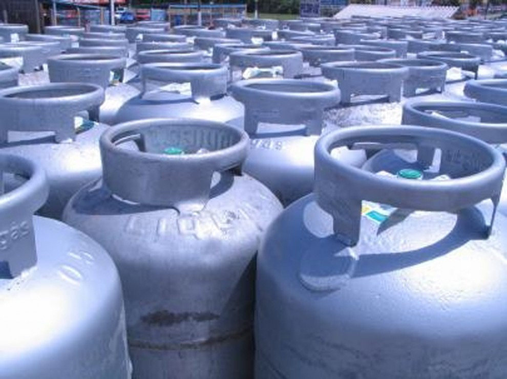 Botija de gás . Crédito: Divulgação