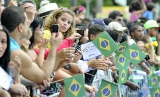 Desfile de Sete de Setembro, na Avenida Beira Mar. Presença do governador Renato Casagrande, de Luciano Resende, prefeito de Vitória, e outras autoridades - Editoria: Política