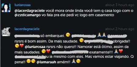 Post de Graciele Lacerda sobre casamento com Zezé di Camargo