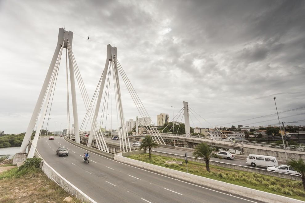 Os bandidos fugiram em direção à Ponte da Passagem. Crédito: Yuri Barichivich