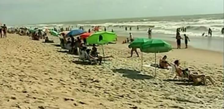 Balneário de Guriri, no Norte do Estado. Crédito: Reprodução/TV Gazeta