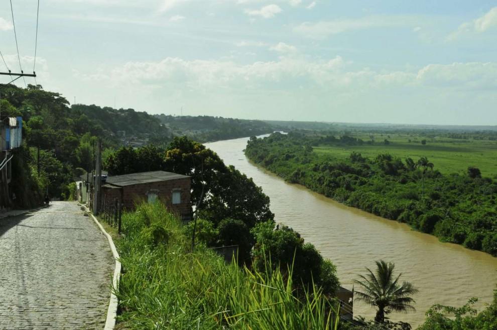 Rio Cricaré, no Norte do Estado, era navegável até o km 14  . Crédito: Carlos Alberto Silva