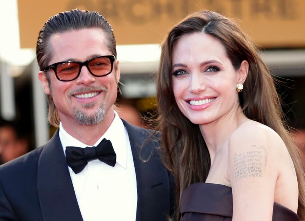 Angelina Jolie e Brad Pitt. Crédito: Divulgação