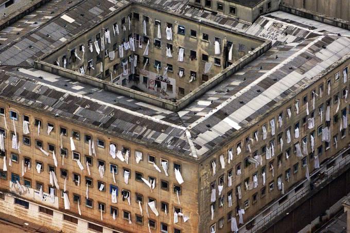 O antigo complexo penitenciário do Carandiru, em São Paulo. Crédito: Evelson de Freitas