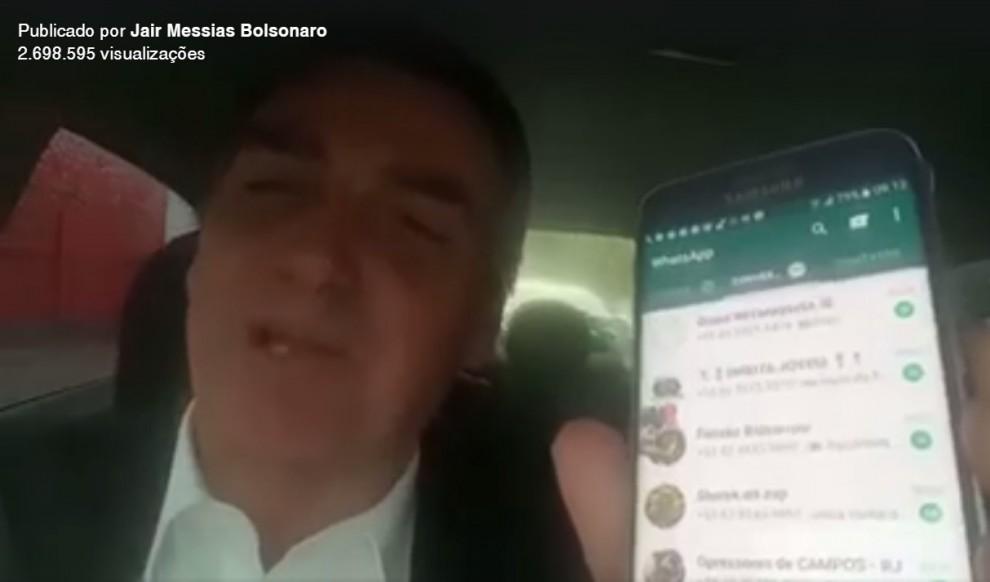 Jair Bolsonaro divulgou vídeo na internet. Crédito: Reprodução/ Facebook Bolsonaro