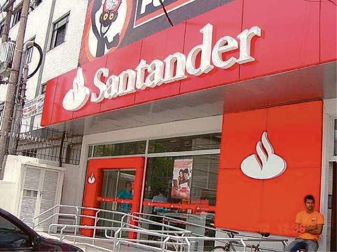 Banco Santander. Crédito: Imagem de arquivo