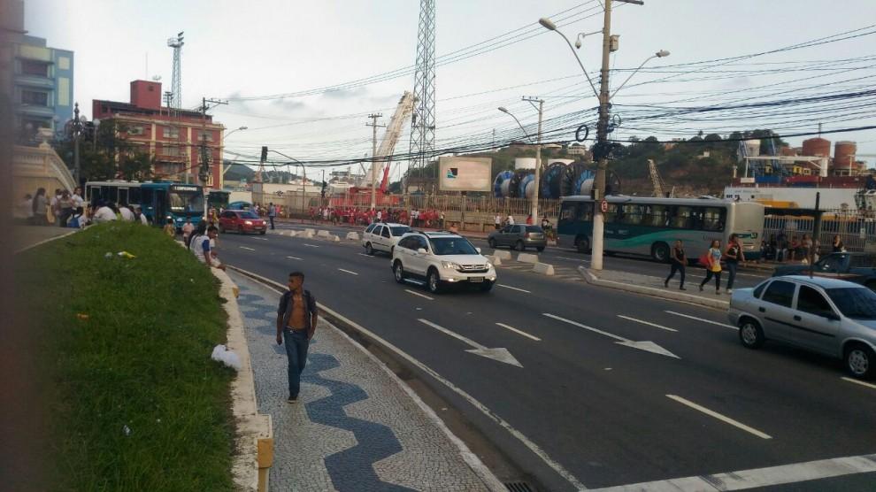 Avenida Jerônimo Monteiro, em Vitória. Crédito: Rafael Monteiro de Barros