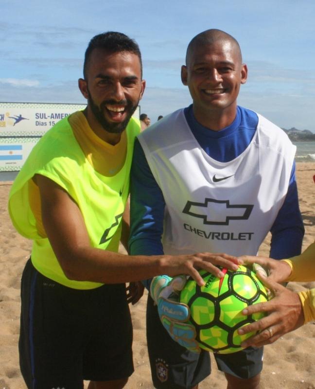 O goleiro Mão e o atacante Bruno Xavier iniciaram os treinos. Crédito: Pauta Livre/Divulgação