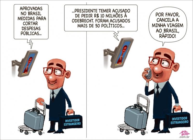 A Gazeta - Charge - A Gazeta