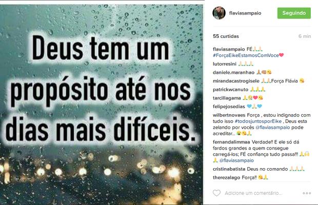 Flávia Sampaio Mulher De Eike Batista Posta Mensagem Força