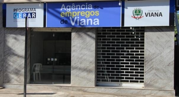 Sede da Agência do Emprego da Prefeitura de Viana. Crédito: Divulgação / Prefeitura de Viana
