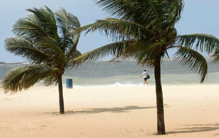 Rajadas de vento podem chegar a até 60 km/h no litoral sul do ES. Crédito: Gustavo Louzada/Arquivo
