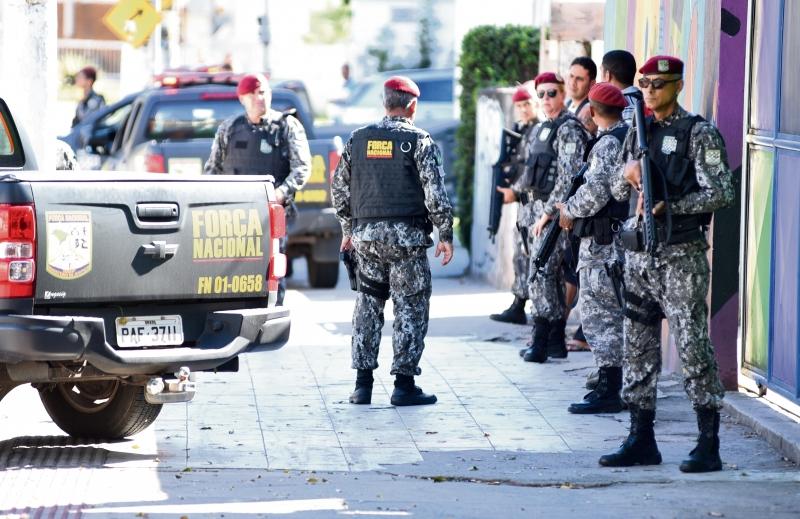 Homens da Força Nacional . Crédito: Fernando Madeira | GZ
