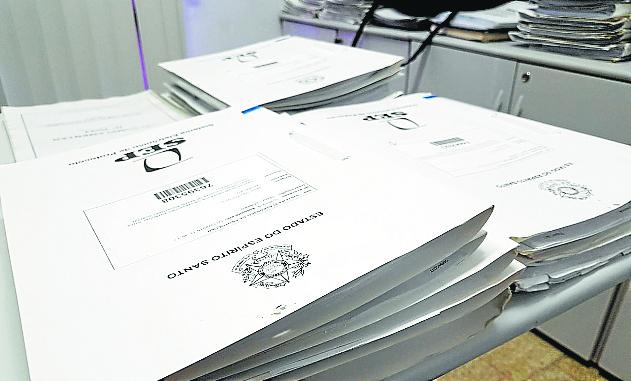 Processos do documento do Estado. Crédito: Divulgação
