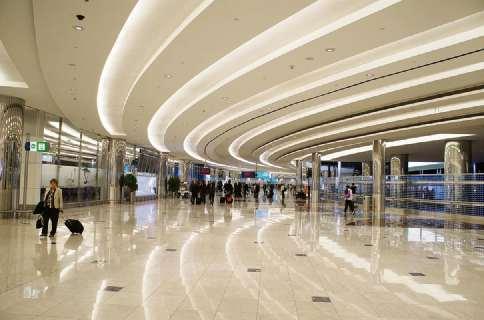 Piso do aeroporto de Dubai foi construído com rochas extraídas no Estado