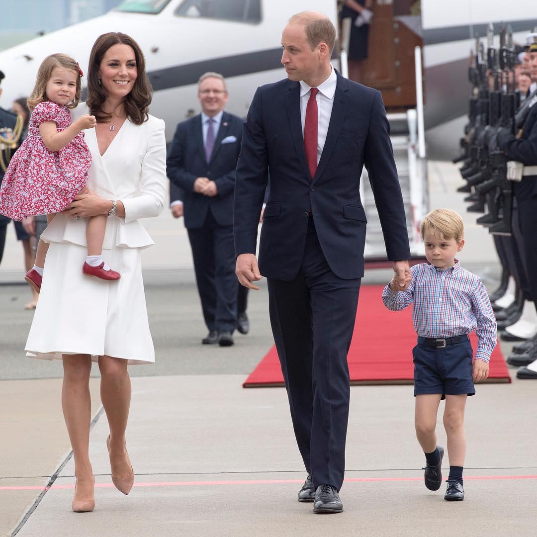 Família real da Inglaterra chega à Polônia. Crédito: Reprodução | Instagram