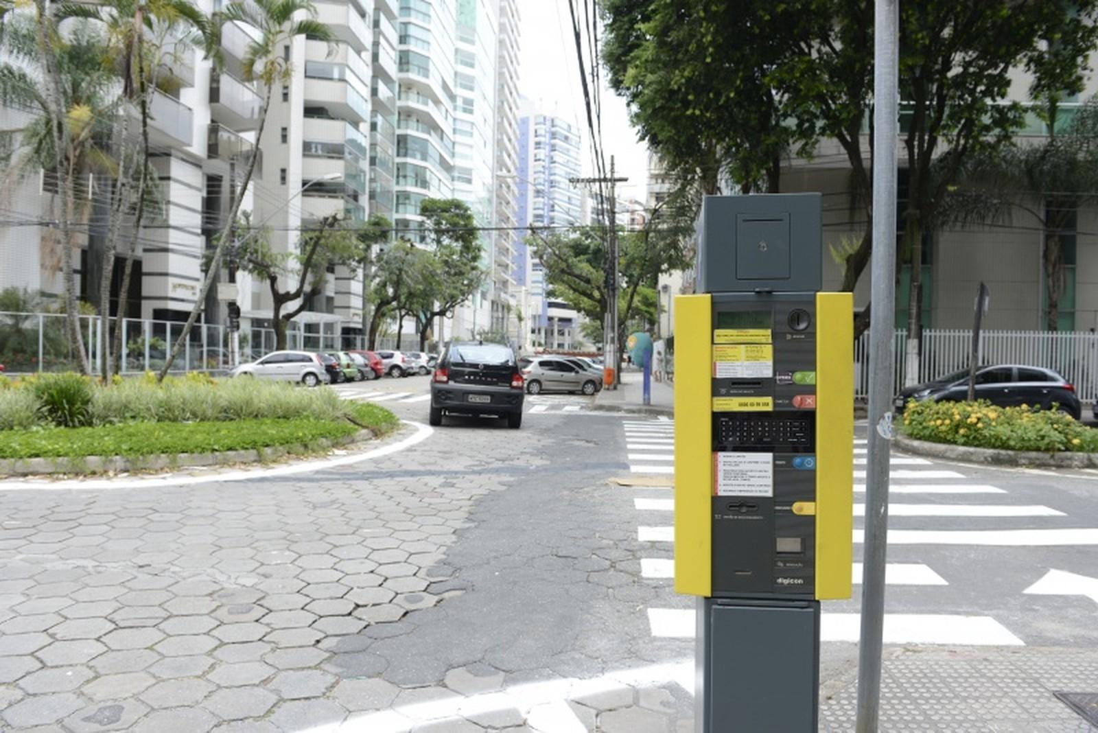 A cobrança por meio de parquímetros funciona na Capital desde novembro de 2014. Crédito: André Sobral | Prefeitura de Vitória