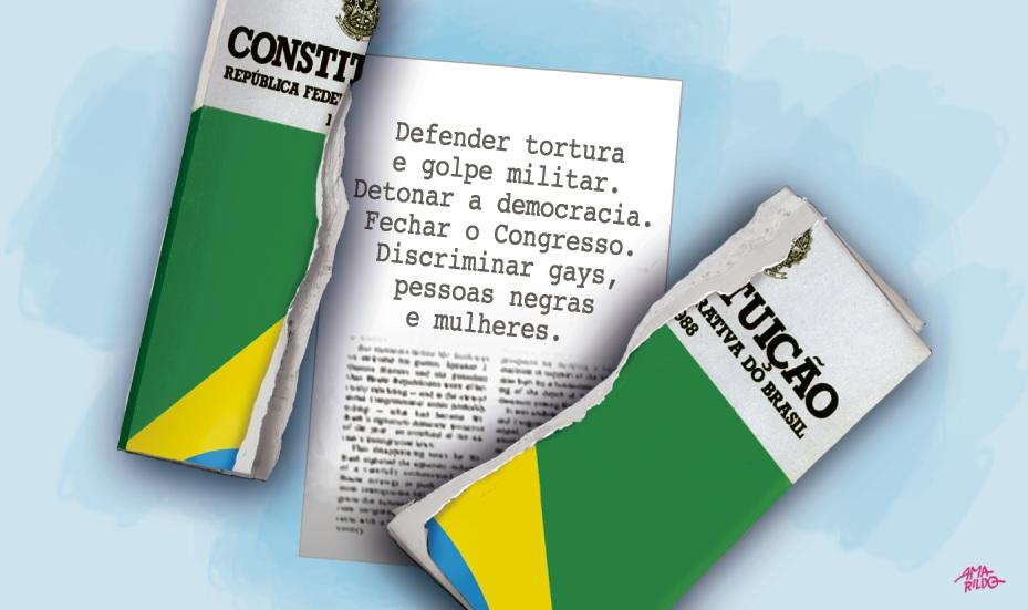 bolsonaro versus a constituição praça oito gazeta onlineConstituicao #18
