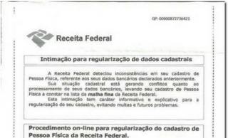 Receita Federal alerta para golpe que pode roubar dados pessoais e bancários