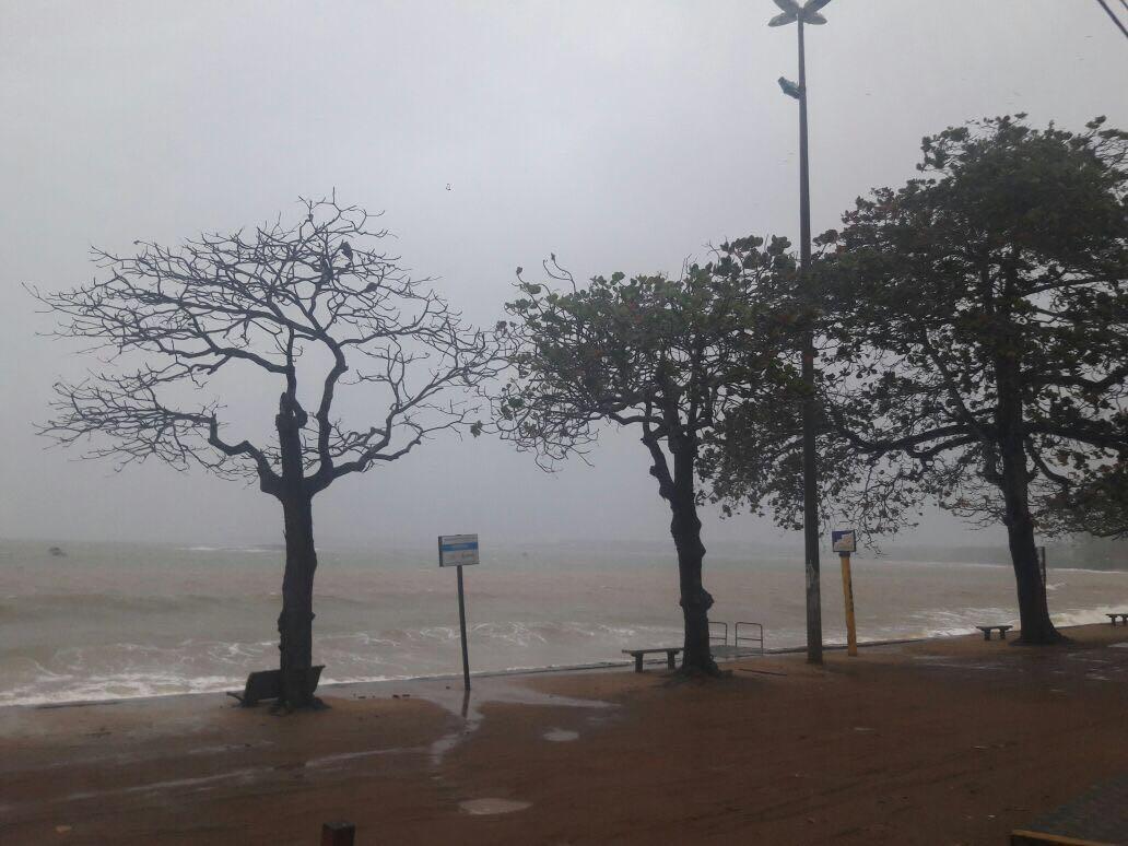 Ventos devem atingir litoral Sul do ES . Crédito: Internauta Juliana Seraphim