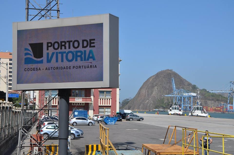 Companhia é a administradora dos Porto de Vitória e do Porto de Barra do Riacho, em Aracruz. Crédito: Divulgação/ Codesa