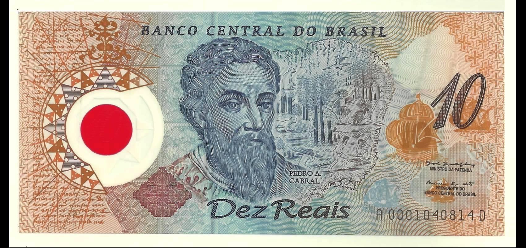 Frente da cédula de R$ 10 de plástico. Crédito: Divulgação | Banco Central