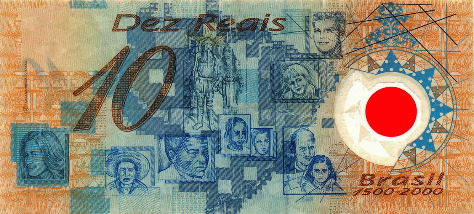 Verso da cédula de R$ 10 de plástico. Crédito: Divulgação | Banco Central