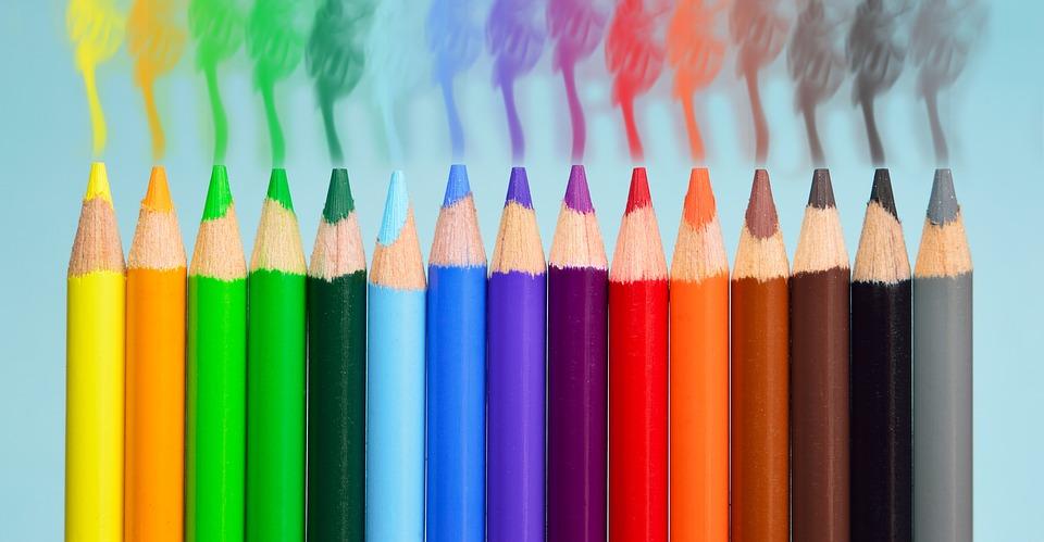 Lápis de cor. Crédito: Pixabay