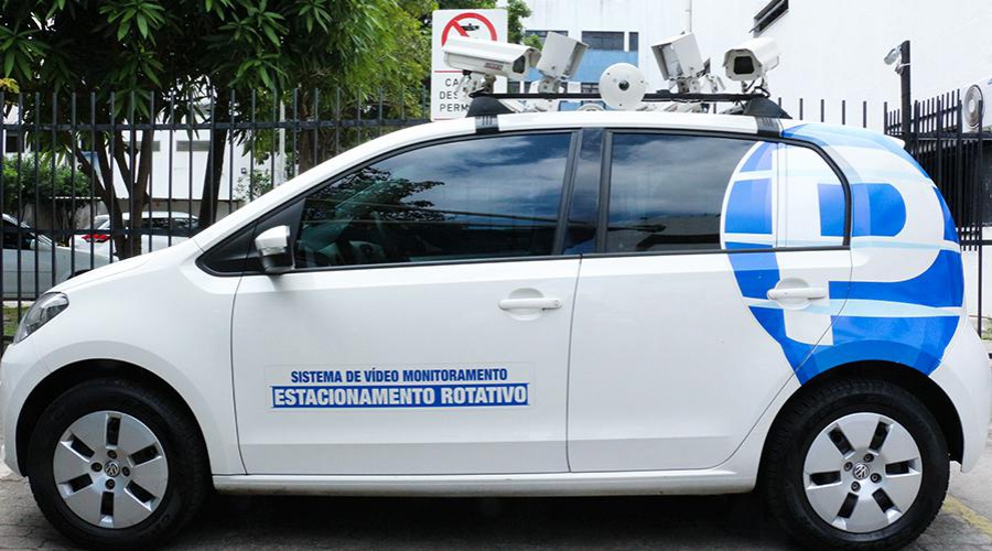 Carro com câmera vai flagrar quem não pagou rotativo em Vila Velha. Crédito: Divulgação