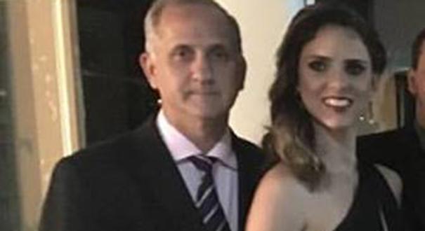 Hilário Frasson e Milena Gottardi enquanto eram casados. Crédito: Reprodução/Facebook