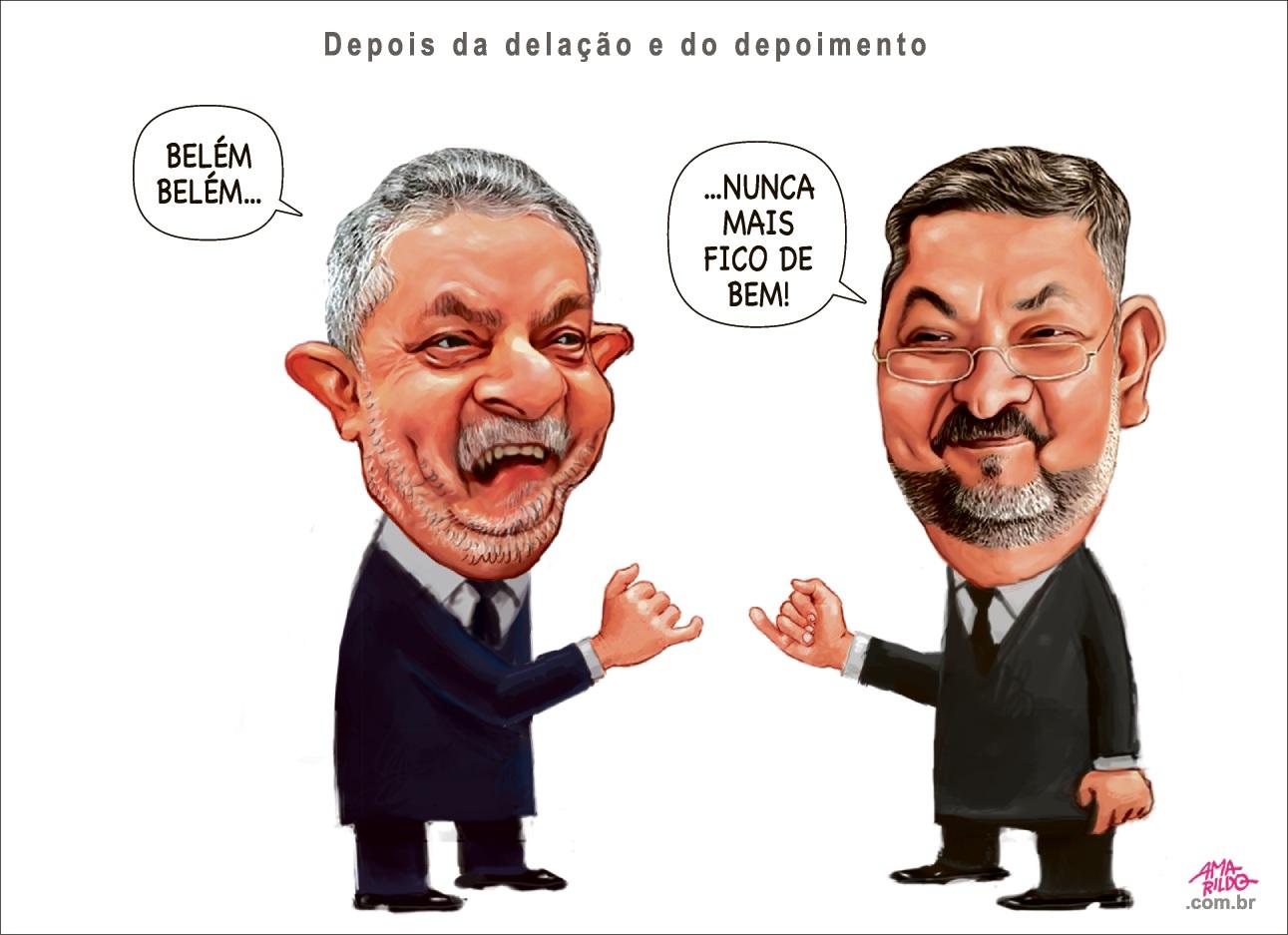 Lula e Palocci depois da delação...