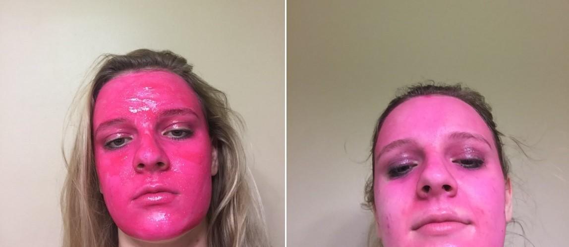 Americana resolve testar tinta lavável no próprio rosto e...