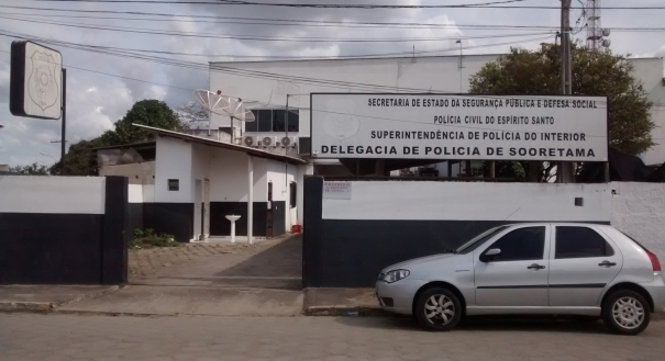Delegacia de Polícia Civil de Sooretama, onde atua o delegado Fabrício Lucindo