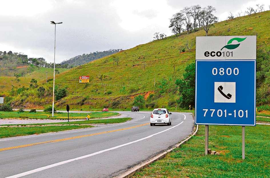 Trecho da BR 101, em Viana, administrado pela Eco101. Crédito: Fernando Madeira/Arquivo