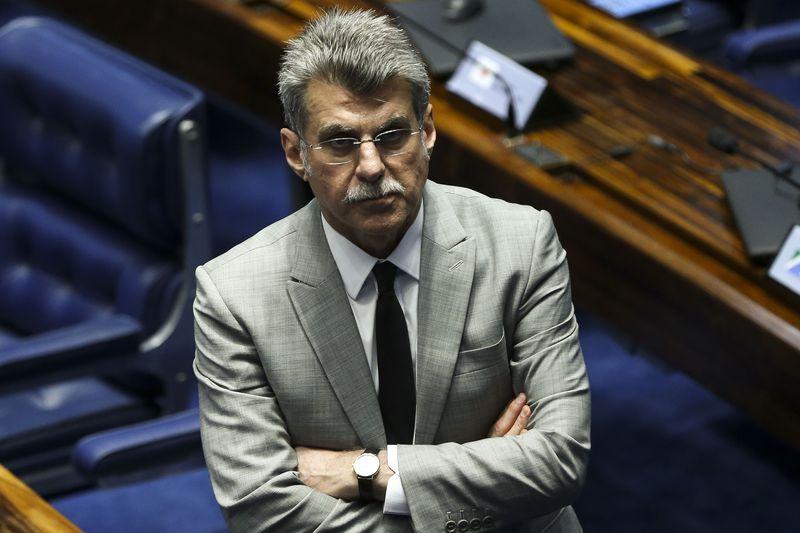 O senador Romero Jucá durante sessão plenária . Crédito: Marcelo Camargo/Agência Brasil