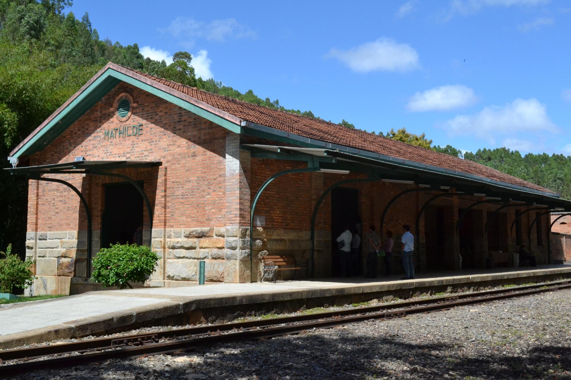 Estação Ferroviária de Matilde, no interior do ES. Crédito: Divulgação/PMAC