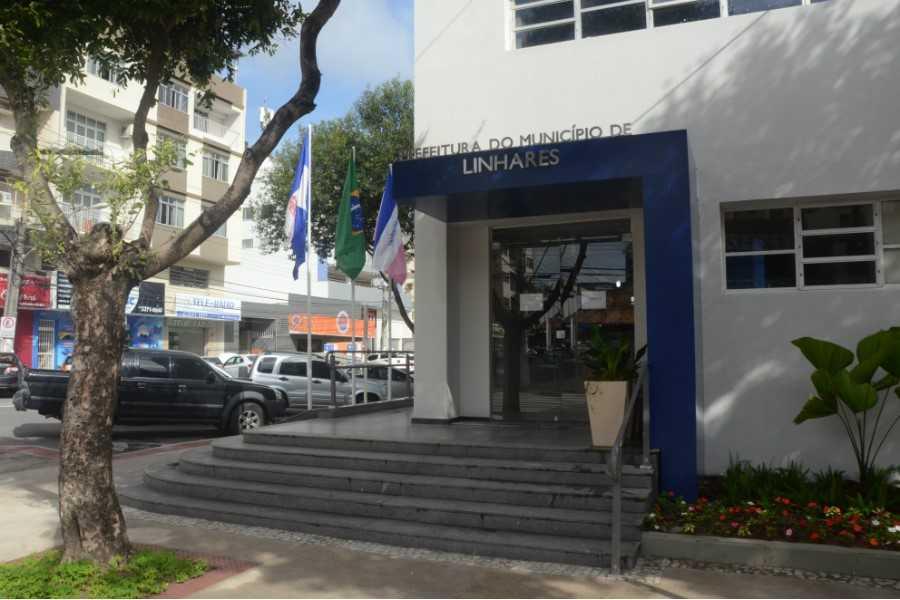 Sede da Prefeitura de Linhares. Crédito: Divulgação