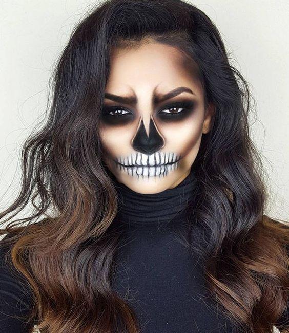 Maquiagem para halloween para mulheres