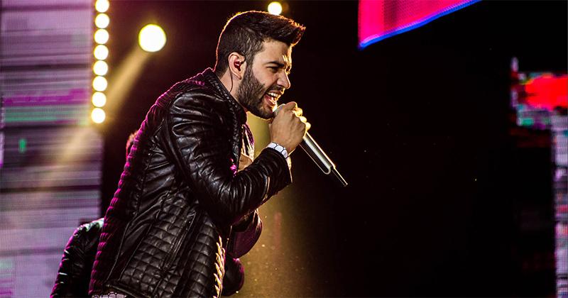 Gusttavo Lima canta no Multiplace Mais. Crédito: Divulgação