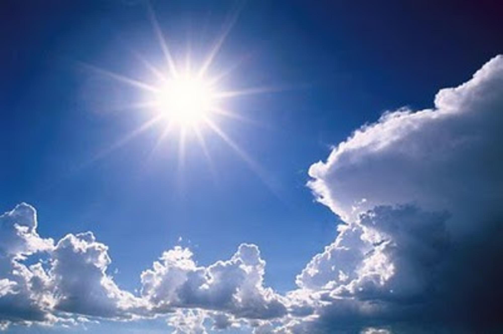 Neste final de semana o sol aparece e fará calor em todas as regiões do Estado. Crédito: Reprodução/Web