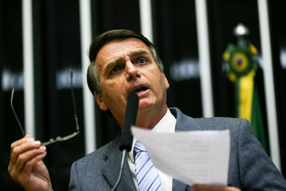 Bolsonaro é candidato a presidente nas eleições de 2018. Crédito: Agência Brasil