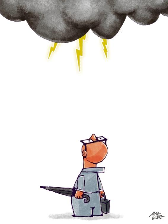 Um tema, duas visões: como se preparar para as chuvas?. Crédito: Arte