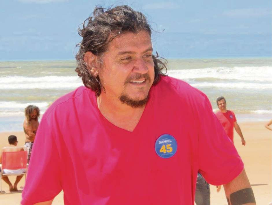 Daniel da Açaí, prefeito de São Mateus, durante a campanha eleitoral. Crédito: Reprodução/Facebook