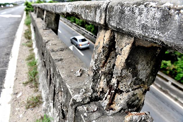 Segunda Ponte precisa de manutenção, diz Crea-ES. Crédito: Fernando Madeira