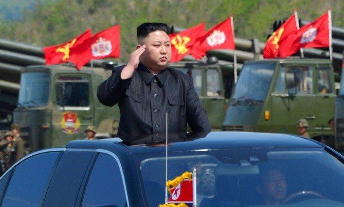 Kim Jong-un fez ameaças em sua mensagem de fim de ano . Crédito: Reprodução/Web