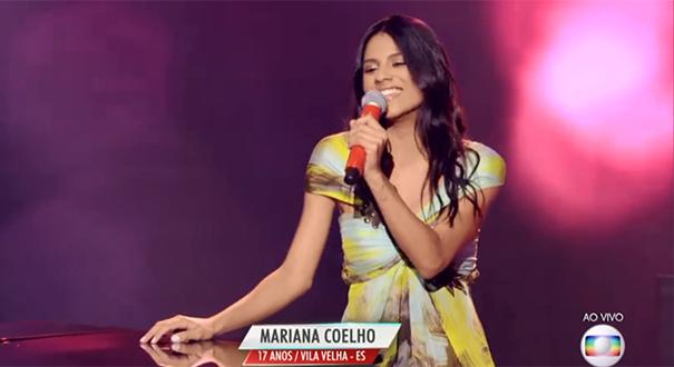 Capixaba Mariana Coelho no The Voice Brasil 2017. Crédito: Reprodução/TV Globo