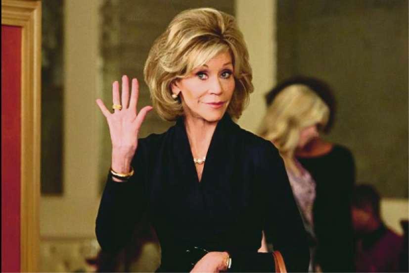 """Jane Fonda em """"Grace and Frankie"""". Crédito: Divulgação/Netflix"""